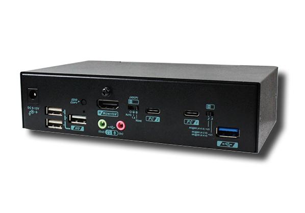 2 Ports True 4K USB C Switch with HDMI output, USB 3.2 Gen 1, Audio