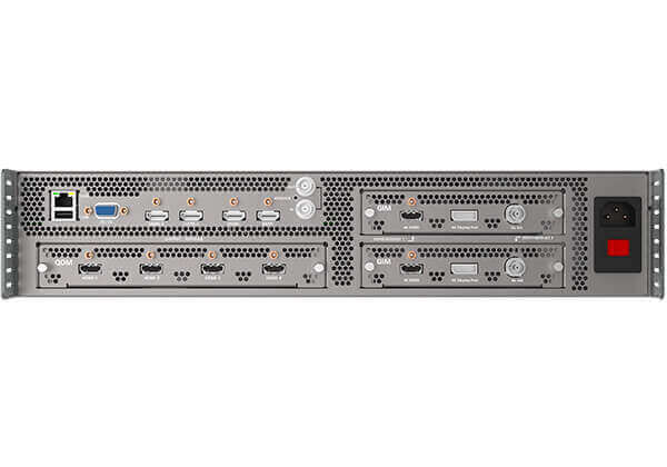 True 4K Video Processor with HDMI, DisplayPort, Fiber, LAN, SDI, Live Switcher, 4 Layers Mixing, Scaler