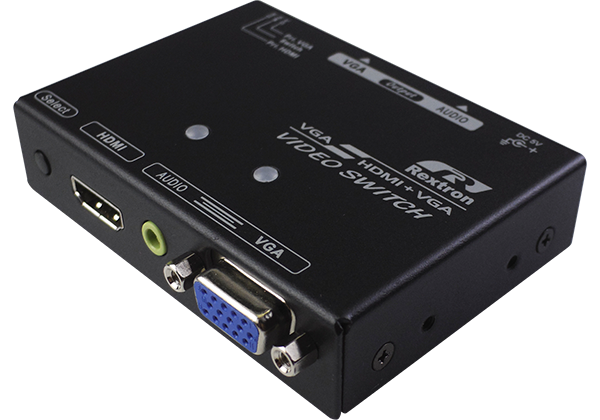 2 Ports HDMI and VGA Video Switch with Audio VGA Output