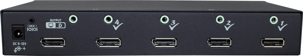 4 Ports DisplayPort Video Switch with Audio IR Serial