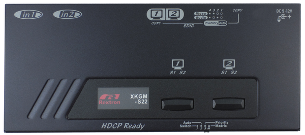 2X2 4K HDMI Video Matrix with IR