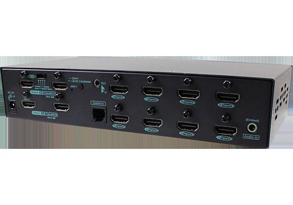 8X2 4K HDMI Video Matrix with IR Serial Extra Cascade Port