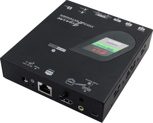 4K HDMI KVM Extender over IP with Serial USB Transmitter