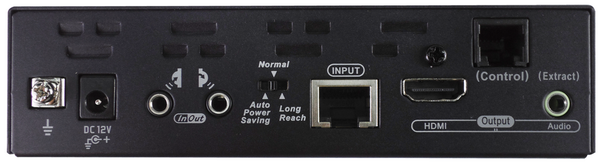 HDMI Video Extender Receiver with Scaler, IR, Serial, 100M