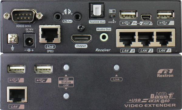 4K HDMI KVM Extender over CAT.x with Audio, IR, Serial, USB, LAN, PoH, 100M
