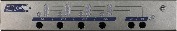 4 Ports USB 2.0 Switch Box with Hotkey Serial IR Control (USW-K234)