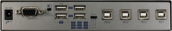 4 Ports USB 2.0 Sharing Switch Box with Hotkey | USW-K234