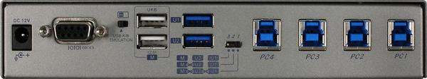 4 Port USB 3.2 Switch with Hotkey & IR Remote Control   USW-K334