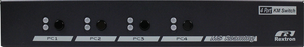 4 Ports KM Switch with USB HID Mouse Roaming Function