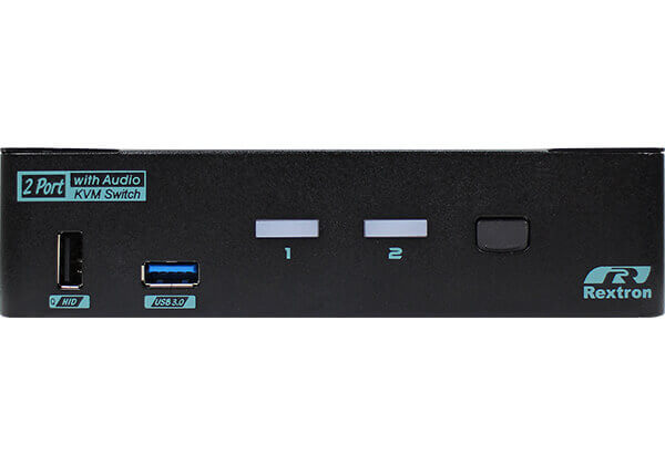 2 Ports True 4K HDMI 2.0 KVM Switch With USB 3.2 Gen 2 and HDCP Engine Front