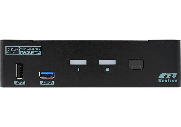 2 Ports 8K DisplayPort 1.4 KVM Switch With USB 3.2 Gen 2 Rear