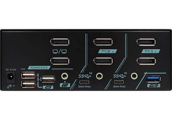 2 Ports Dual Monitor 8K DisplayPort 1.4 KVM Switch With USB 3.2 Gen 2 - 1