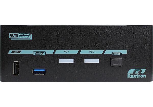 2 Ports Dual Monitor 8K DisplayPort 1.4 KVM Switch With USB 3.2 Gen 2 - 2