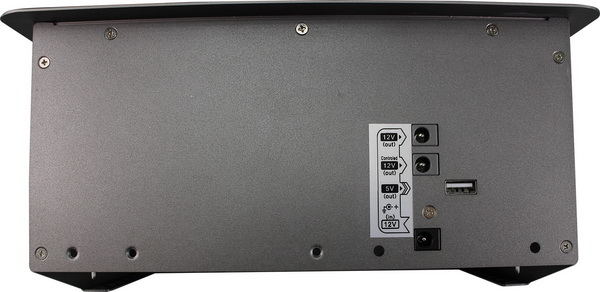 3 Ports Table Box 4K Multi Format Video Switch with HDMI VGA USB