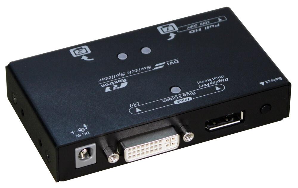 2-Port DP-to-DVI Video Switch Splitter   VSPD-212