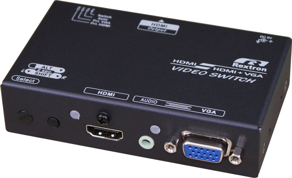 2 Ports VGA and HDMI Video Switch with HDMI Output