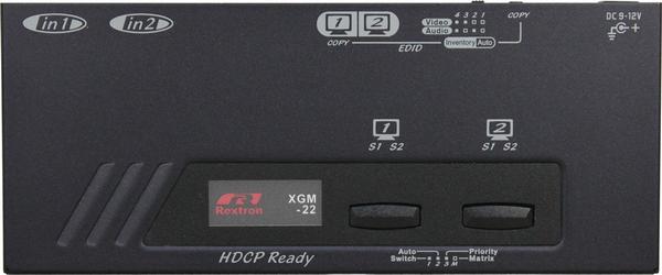 2X2 HDMI Video Matrix with IR