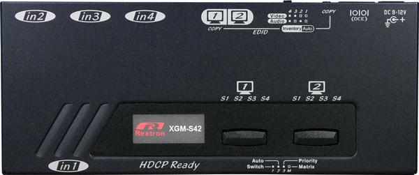 4X2 HDMI Video Matrix with IR Serial