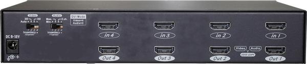 4X4 HDMI Video Matrix with IR