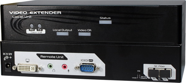 DVI Extender over Fiber with Audio & Serial Function