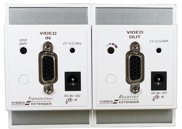UK Wall Plate VGA Video Extender
