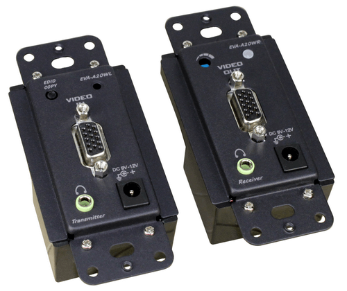 US Wall Plate VGA Video Extender with Audio, Decora Type