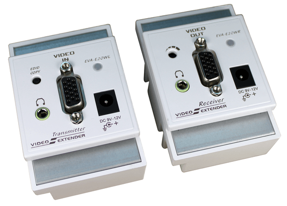 UK Wall Plate VGA Video Extender with Audio