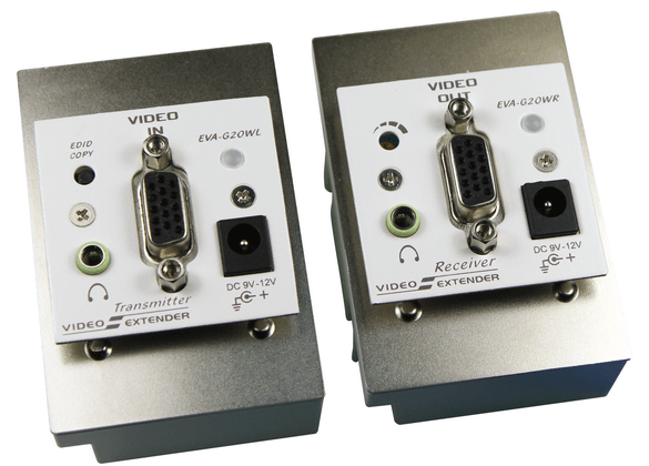German Wall Plate VGA Video Extender with Audio