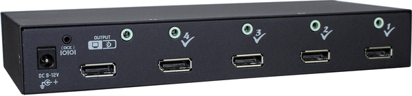 4 Ports DisplayPort Video Switch with Audio IR Serial