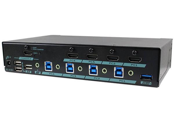 4 Ports 4K HDMI KVM Switch with USB 3.2 Gen 1