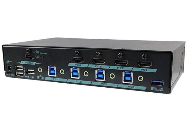 4K UHD 4-Port HDMI KVM Switch with USB 3.2 Gen 1 & HDCP/EDID engine